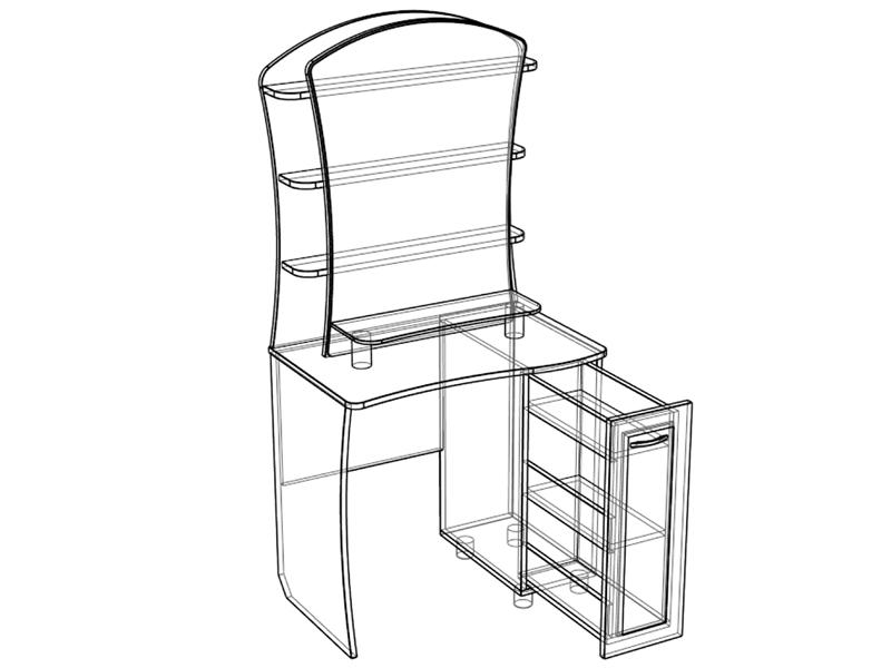 Стол из модулей схема